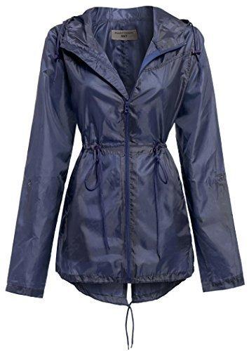 SS7 Women's Parka Fishtail Raincoat, Navy, Khaki, Sizes 10 to 22
