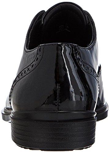 B 15 Negro Cuero Ecco Black4001 Zapatos con Ecco de Mujer Cordones Touch qTpxnwCtS