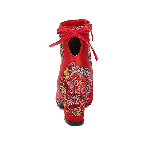 Satén De Con Mns03217 Cuña Red Mujer Sandalias 1to9 qavU4wxXW