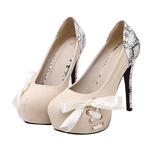 Scarpe Da Donna Tacco Alto Con Zeppa Elegante Eclimb Tacco Alto Scarpe Albicocca
