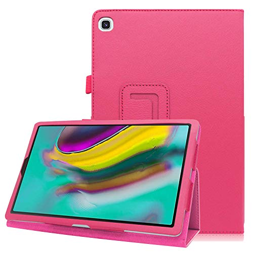 EpicGadget Case for Galaxy Tab A 10.1 2019 (SM-T510/SM-T515), PU Leather Folding Stand Folio Cover Case for Samsung Galaxy Tab A 10.1 Released in 2019 (Pink)