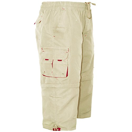 c5fcc16178 MENS 3/4 SHORTS 2 IN 1 CARGO COMBAT ZIP OFF SUMMER JOGGING CASUAL TROUSERS  S M L XL XXL. by westace