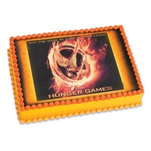 1/4 Sheet ~ Hunger Games Birthday ~ Edible Image Cake/Cup...