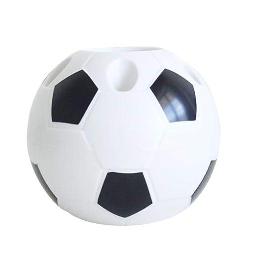 Belupai - Portalápices con forma de balón de fútbol, multifunción ...