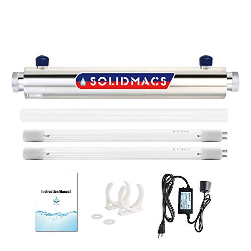 solidmacs UV Water Purifier Filter Ultraviolet Sterilizer Whole House Purification 2GPM 16W