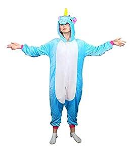 Emolly Adult Animal Unicorn Onesie Pajamas Costume