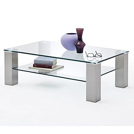 Couchtisch Asta Ii Glastisch Wohnzimmertisch Metall Glasplatte