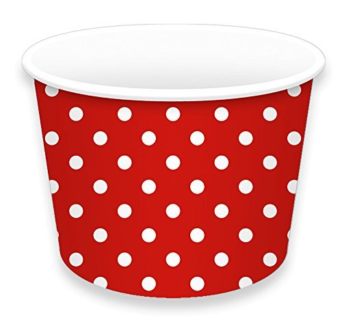 LolliZ® Ice Cream Cups 8oz., Red/Polka Dots, 12 Pcs (8 Oz Ice Cream Cups compare prices)