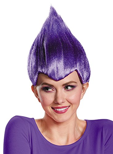 UHC Wacky Vibrant Comical Theme Party Wig Adult Halloween Costume Accessory (Purple)