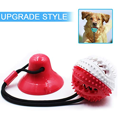 Dog Chew Toys for Aggressive Chewers, Self-Playing Tug of War Dog Toy with Chew Rubber Ball, Dog Interactive IQ Treat…