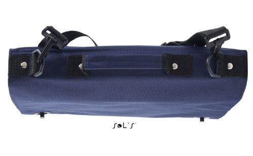 Borsa a tracolla con manico, per la scuola o il laptop, colore: blu