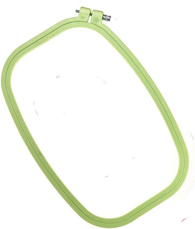 Round WElinks Anneau de Broderie r/églable en Plastique pour Point de Croix Couleur al/éatoire 7 cm