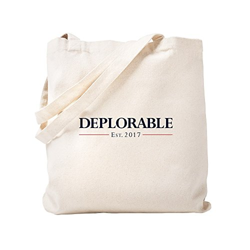 CafePress Deplorable Est 2017 Natural Canvas Tote Bag, Cloth Shopping Bag ()
