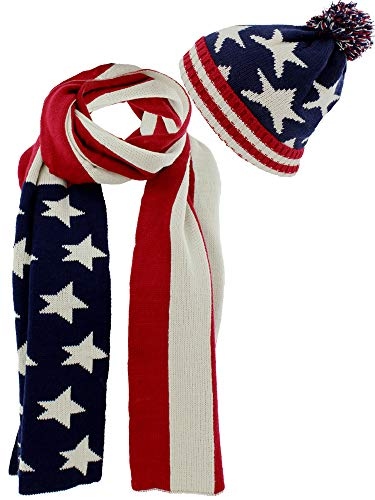 Flag Knit Red White Blue...