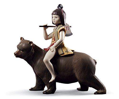 Lladro Kintaro And The Bear Figurine