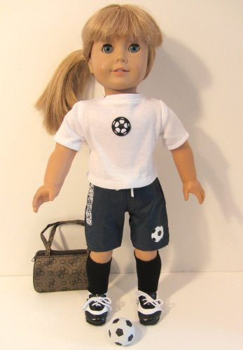 10 Piece Complete Soccer Outfit Doll Clothes for 18 Inch Dolls and American Girl, Baby & Kids Zone