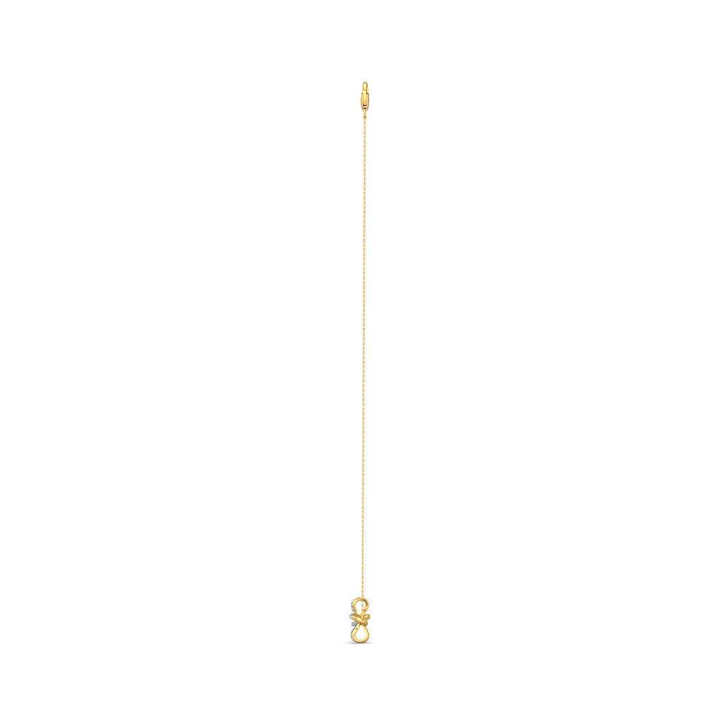 9.25 inches IJ| SI 0.21 cttw Round-Cut-Diamond identification-bracelets Size 18K Yellow Gold