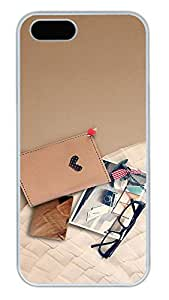iPhone 5S Cases - Summer Cool Card Package Photos Of Glasses PC White Case