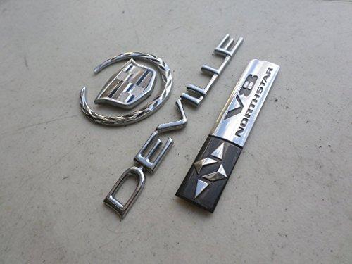 03-05 Cadillac Deville V8 Northstar Tailgate Emblem 10334040 Logo Decorative Nameplate Decal Script Set