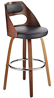 Fabulous Atlantic Shopping Jasper Leather Bar Stool Oak Black Andrewgaddart Wooden Chair Designs For Living Room Andrewgaddartcom