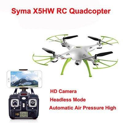 Syma X5HW FPV HD cámara Wi-Fi Quadcopter Drone - Blanco: Amazon.es ...