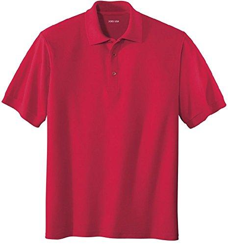 Web Red Shirt - Joe's USA Men's Classic Polo Shirts - Regular Large (41-43) - Red