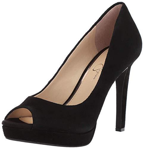 Suede Like Peep Toe - Jessica Simpson Women's Dalyn, (Black 001), 9 Medium US