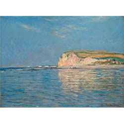 Perfect effect Canvas ,the High quality Art Decorative Prints on Canvas of oil painting 'Low Tide at Pourville near Dieppe 1882 by Claude Monet', 30x41 inch / 76x103 cm is best for Home Office decor and Home artwork and Gifts