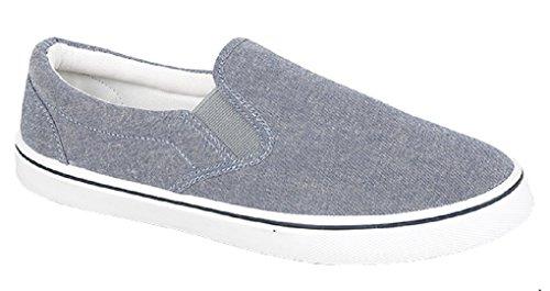 Footwear Sensation - Mocasines de sintético para hombre Denim