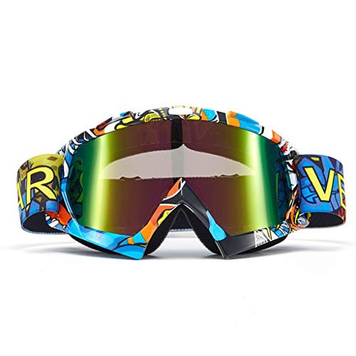 ZHMJ Goggle Motorcycle Knight Equipment Off-Road Goggles Ski Fully Sealed Anti-Fog Glasses Dust-Proof Sand Control (Color : D)