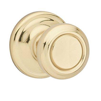 Kwikset 978CN-3 Cameron Interior Single Cylinder Montara Handleset Trim Bright Brass ()