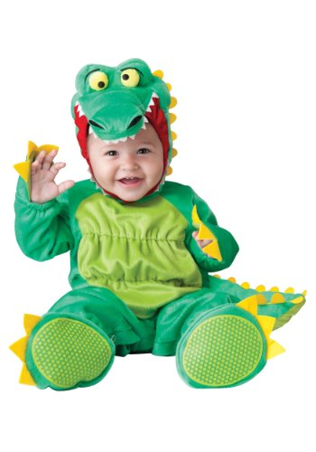 InCharacter Baby's Goofy Gator Costume, Green, Small -