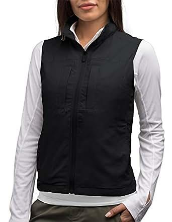 SCOTTeVEST Women's Featherweight Vest BLK S - 16 Pockets - Travel Clothing