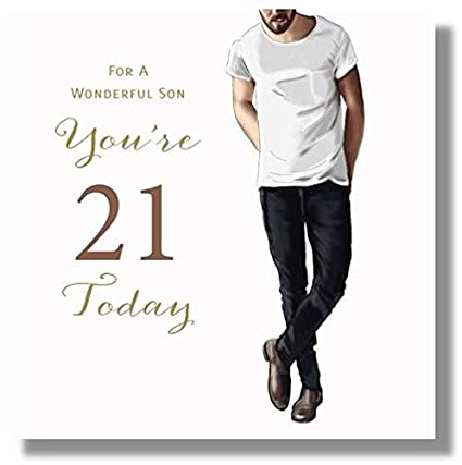 Image Unavailable Not Available For Color Happy 21st Birthday Greeting Card