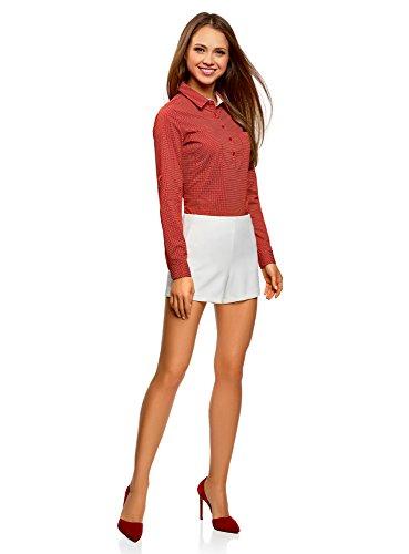 Con Ultra El Rojo 4512d Pecho Oodji Bolsillos Camisa Básica En Mujer qvIn0wdzU