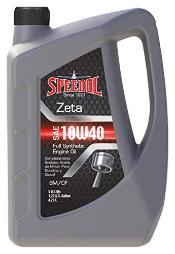 Speedol Zeta 10W-40 Full Synthetic Motor Oil 5-Quarts (4.73 L) | Premium Quality High Performance Gasoline and Diesel Engine Oil