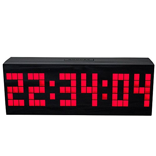 LambTown Digital Led Countdown Timer Electronic Alarm Clock with Temperature Date - Red