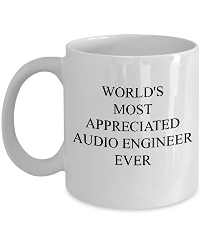 Audio Engineer Mug - World's Most Appreciated - Funny Coffee Gift Cup