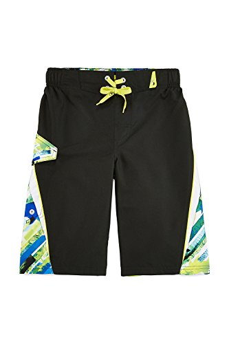 Zero Xposur® Havana Palm Graphic Swim Trunks with Goggles - Boys 8-20 (Large 14-16)