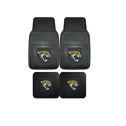 Jacksonville Jaguars NFL 4pc Floor Mat Sets (Front and Rear) - Heavy Duty-Cars, Trucks, SUVs