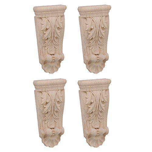 "20x Wooden Carved Corner Onlay Applique Frame Cabinet Type C-15 1.6x1.6/"""