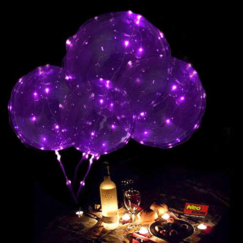 Pink Led Balloons - LED Light Up Balloons,18 Inch Helium