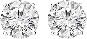3 Carat Round Diamond Stud Earrings G-H Color VS1-VS2 Clarity