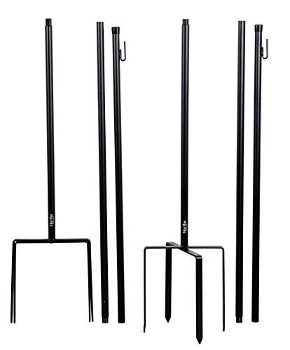 Martha Stewart Garden, Light Strand Poles, Set of 2, Black