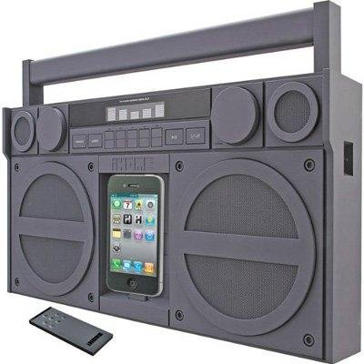 iHome - Boombox for iPhone Gray