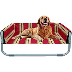 Elevated Pet Bed, Foldable Portable Outdoor Dog Bed Outdoor Pet Bed Breathable Color Durable Oxford Cloth Waterproof Multiple Models Available,S