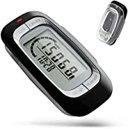 Gzvxuny Simple Walking Pedometer Step Counter with Clip and Strap, 3D Digital Walking Distance Miles/km Exerci