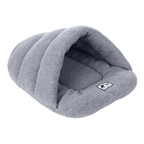 Luxury Dog Pillow (Dog Cave,Luxury Pet Dog Cat Cave Half Covered Soft Cozy Puppy Doggie Cat Sleeping Bag Cuddle Cave Mat Pad Bun Cushions Pets Beds for Dogs Cat Rabbit Warm House Bed Blanket Mat Pet Bed)