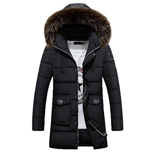 Thicken Outerwear Black Inverno Sportiva Fashion Winter Men's Zhhlaixing Tuta Overcoat Di Hooded Plus nw7UxnY8qt