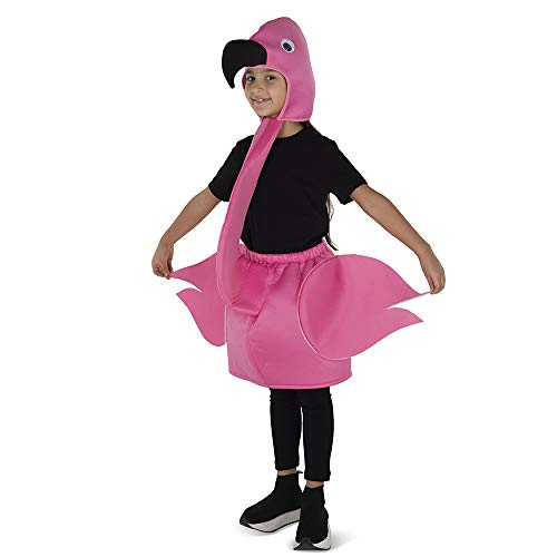 Dress Up America Pink Flamingo Costume for Kids - Product Comes Complete with Skirt and Attached Hood (Medium 8-10 (31'' Waist, 47'' Height))